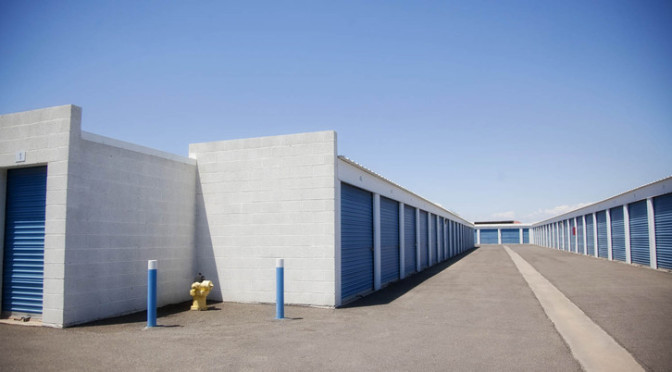 Drive-up access storage units at Central Self Storage in Chandler, AZ.