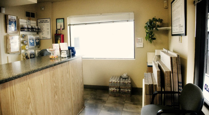 Leasing office at Central Self Storage in Glendale, AZ.