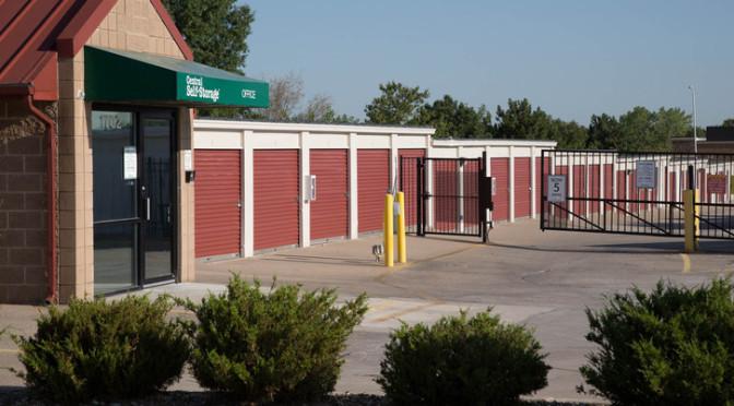 Access gate at Central Self Storage in Olathe, KS.