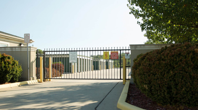 Access gate at Central Self Storage in Kansas City, MO.