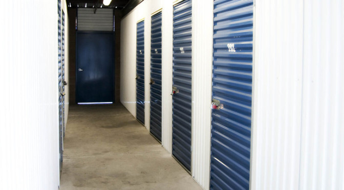 Indoor storage units at Central Self Storage in Fairfield, CA.