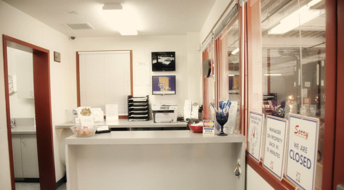 View of front desk at a facility office