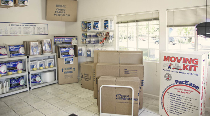 Packing and moving supplies at Central Self Storage in Fairfield, CA.