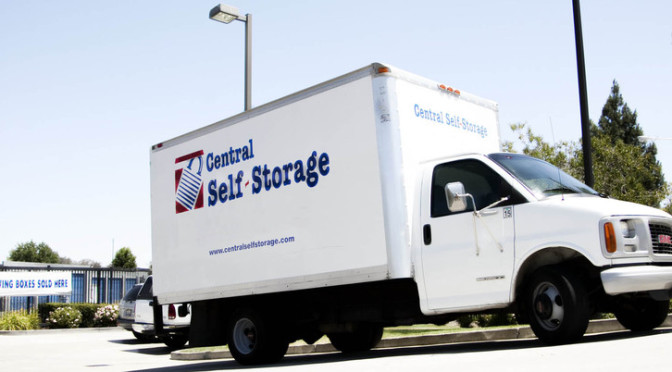 A Central Self Storage moving truck