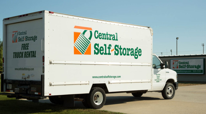 Central Self Storage moving truck.