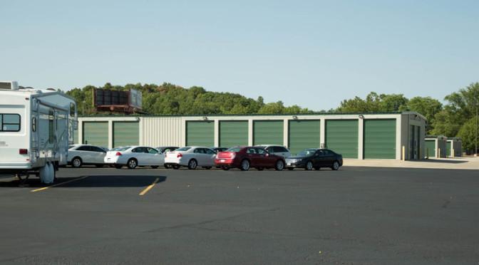 Car and RV parking at Central Self Storage in Kansas City, MO.
