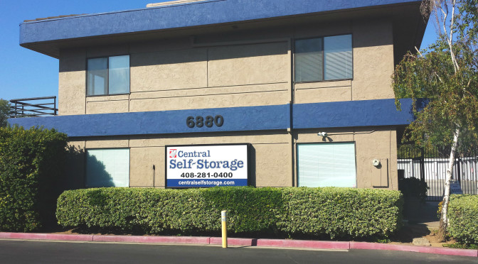 Exterior view of Central Self Storage facility