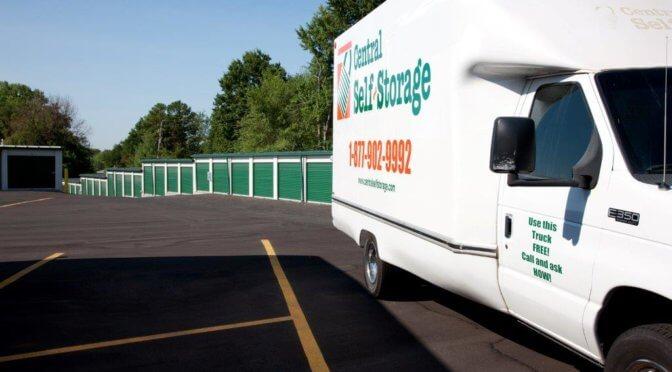 Central Self Storage moving truck in Kansas City, KS.