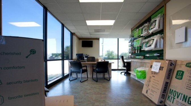 Leasing office at Central Self Storage in Kansas City, KS.
