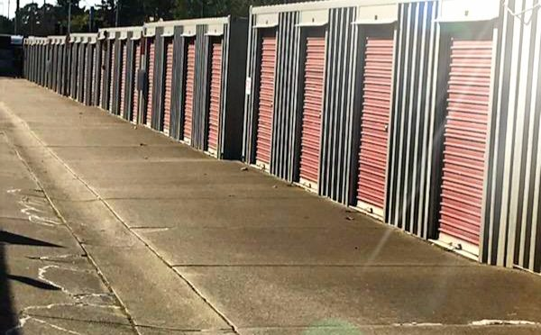 Drive-up access storage units at Central Self Storage in San Leandro, CA.