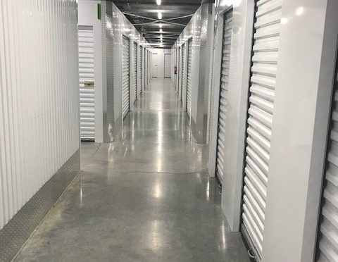 Indoor, climate controlled storage units at Central Self Storage in Portland, OR.